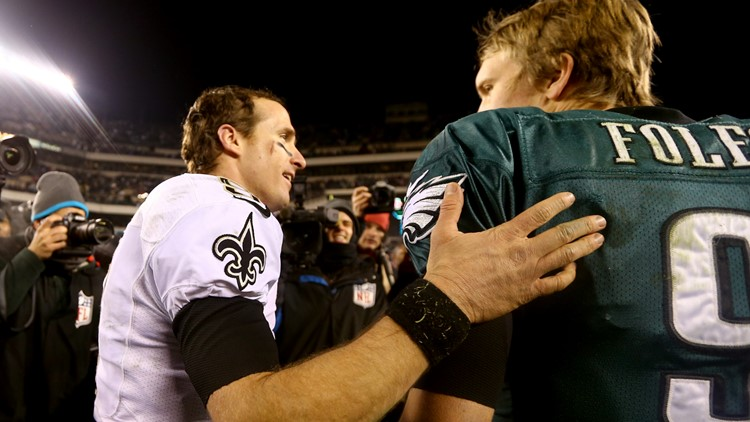 Drew Brees and Nick Foles