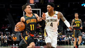 Pelicans fall to Hawks 128-116 on the road