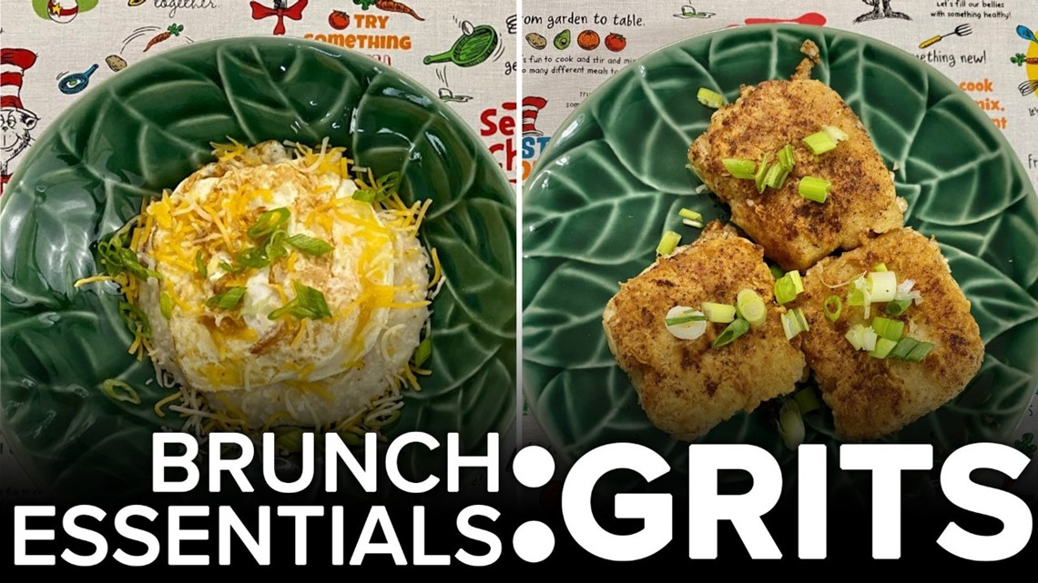 Recipe: Cheesy grits & grits cakes