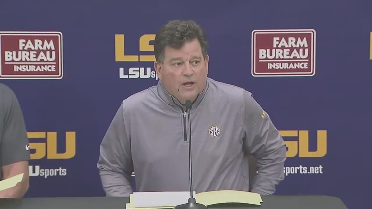 LSU Press conference: Coach Ed Orgeron to leave university