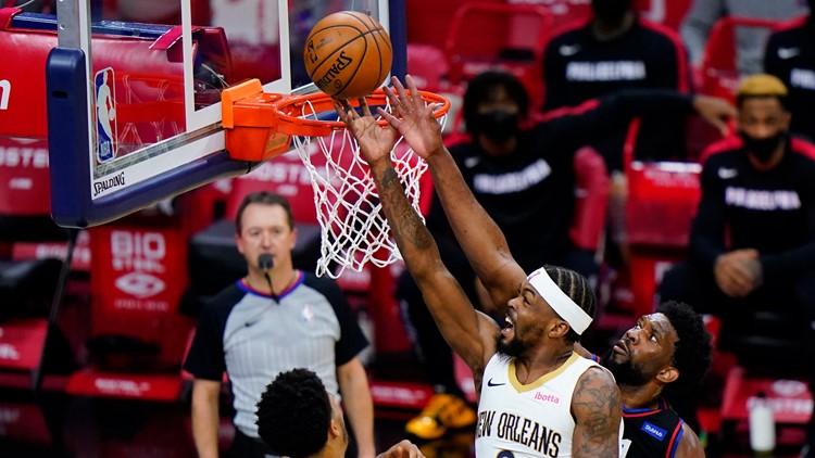 Embiid strengthens MVP bid, 76ers hold off Pelicans 109-107