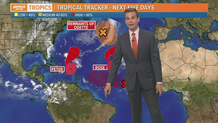 Tuesday Noon Tropical Update: Peter, Rose and soon to be Sam in the Atlantic