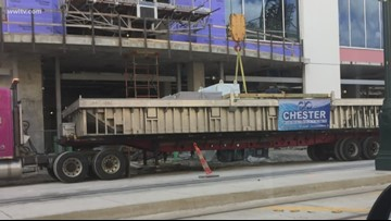 Pool lifted to rooftop of Hard Rock Hotel construction site just hours before collapse