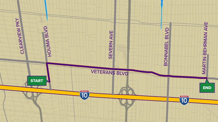 Krewe of Little Rascals parade route