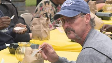 Love365 hosts early Thanksgiving meal for the homeless