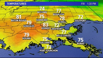 It's the hottest Dec. 6 on record in the New Orleans area