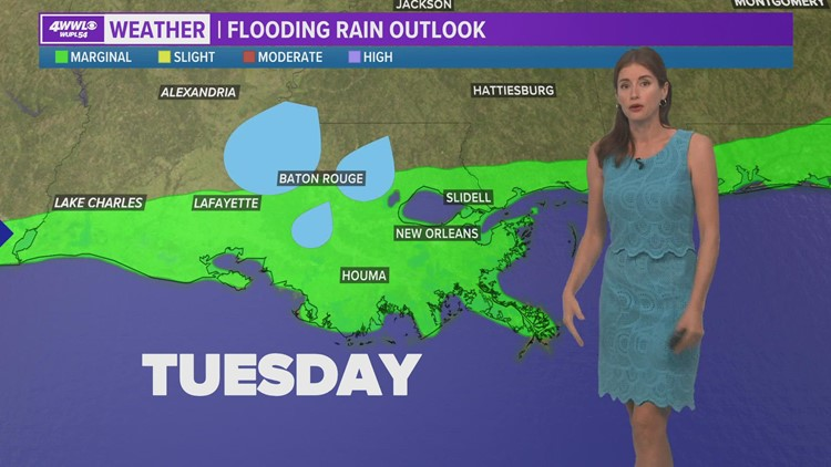 Less heat, more rain coming on Tuesday