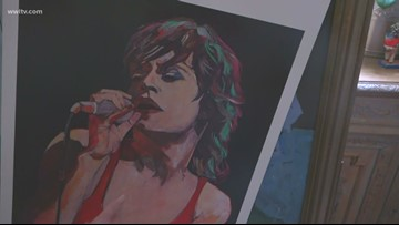 New Orleans Artist who painted Jagger in '81 ready for their return to the Dome