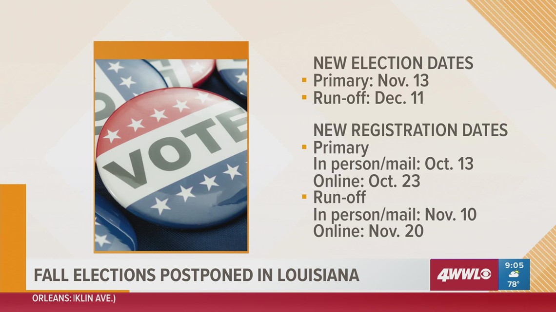 Louisiana elections postponed due to damage caused by Hurricane Ida