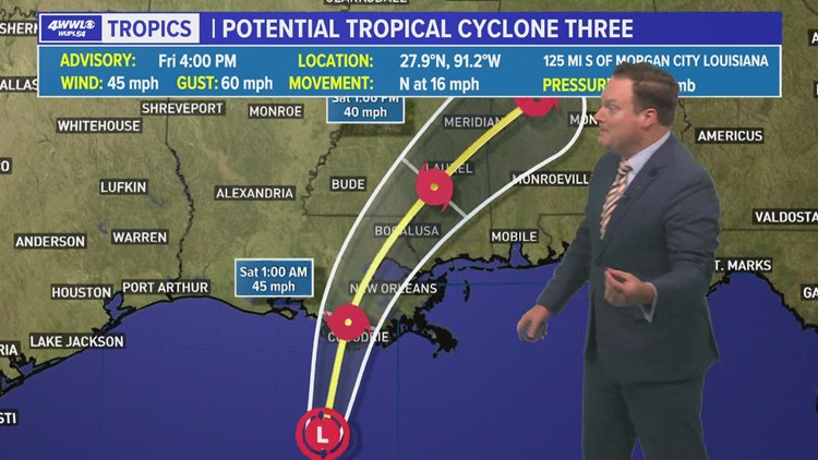 Friday 5 p.m. Tropical Update: Likely not to become a named storm