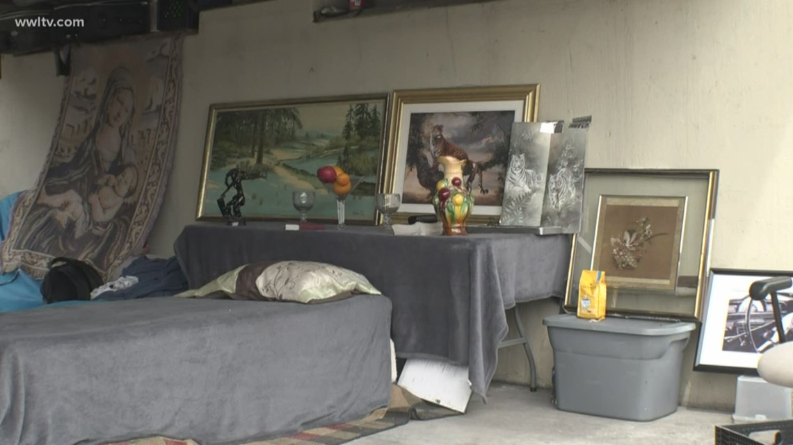 On the streets, man creates home in New Orleans with art