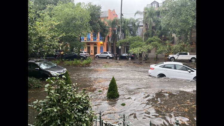 Wednesday storm causes street flooding around New Orleans
