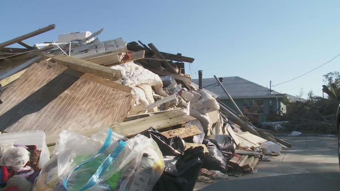 House-high debris block driveways and progress in Laplace