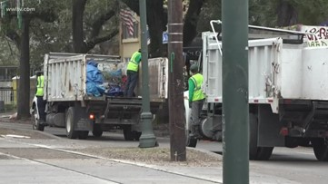 City trashes unattended ladders, chairs left along parade route