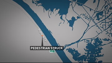65-year-old struck while walking along highway in Boothville