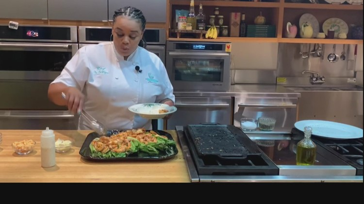 Chef Dee Lavigne's Grilled Shrimp Caesar Salad