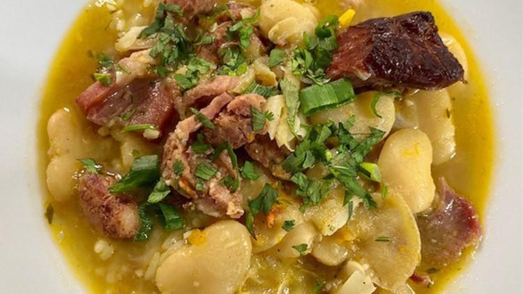 Recipe: Large Limas with roasted ham bone