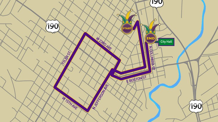 Krewe of Olympia 2020 parade route