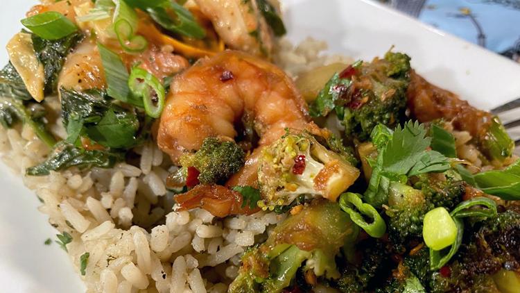 Recipe: Creamy Parmesan Shrimp & Honey Garlic Shrimp with Broccoli