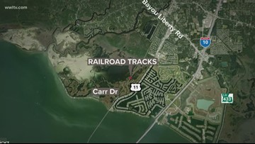 Man killed after being hit by a train in St. Tammany Parish