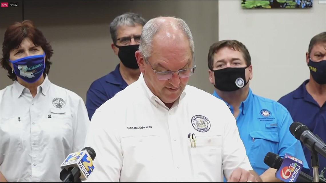 Louisiana Gov. John Bel Edwards reacts to deaths of four nursing home residents