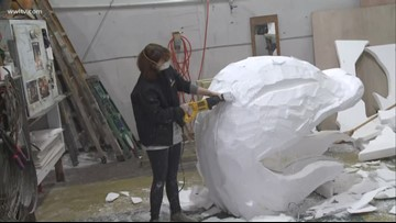 Behind the scenes with Mardi Gras float builders