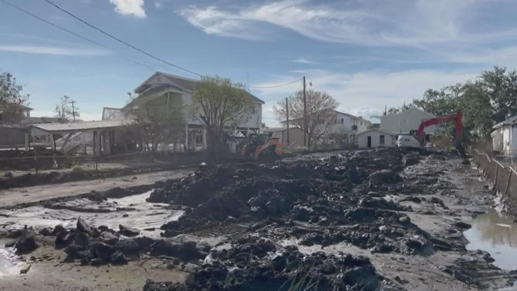 Stuck in the muck - Six weeks after Ida, Lafitte still covered in mud