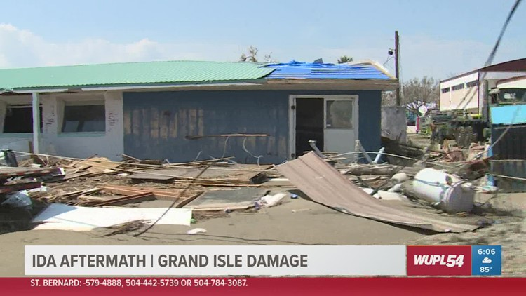 Hurricane Ida wiped away nearly 40% of structures in Grand Isle, officials say