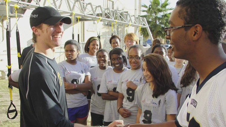 Drew Brees saw the Lusher community cleaning up after Katrina, the rest is history