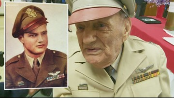 Heroic WWII pilot, 98, receives POW medal in Covington