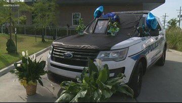 Longtime NOPD Commander's funeral procession passes by 2nd district