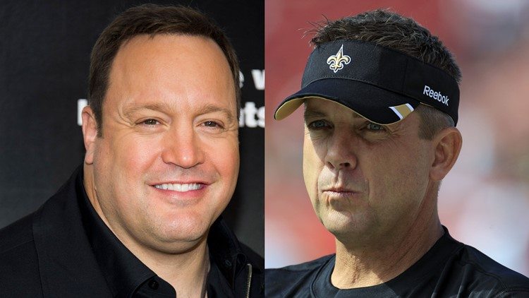 Kevin James playing Sean Payton in a movie? The Falcons & Saints in a Tweet battle over it - Sign me up