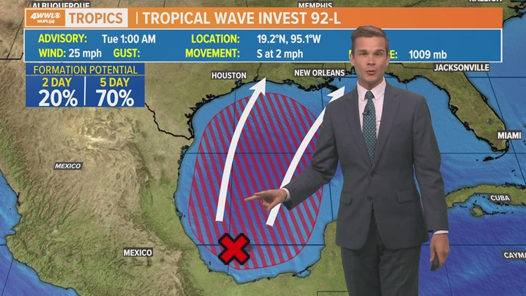 Invest 92: Tropical depression in Gulf likely this week