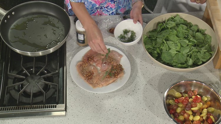 Chef Kevin Belton: Poultry Paillard with Spinach and Parmesan Salad