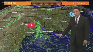 New Orleans Weather: 'Cold' front moves through Friday, some rain