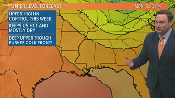 Weather Expert Forecast: Heat Continues, Cold Front on the way!