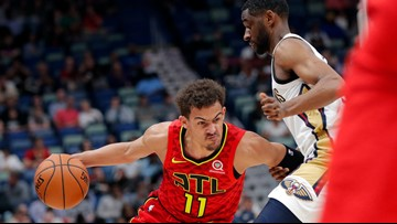 Young records 24th double-double, Hawks top Pelicans 130-120