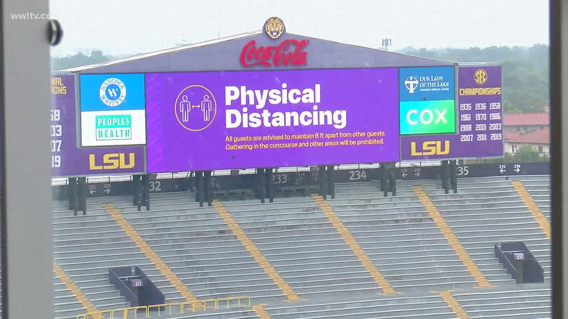 Here's what to expect at LSU home football games during COVID pandemic