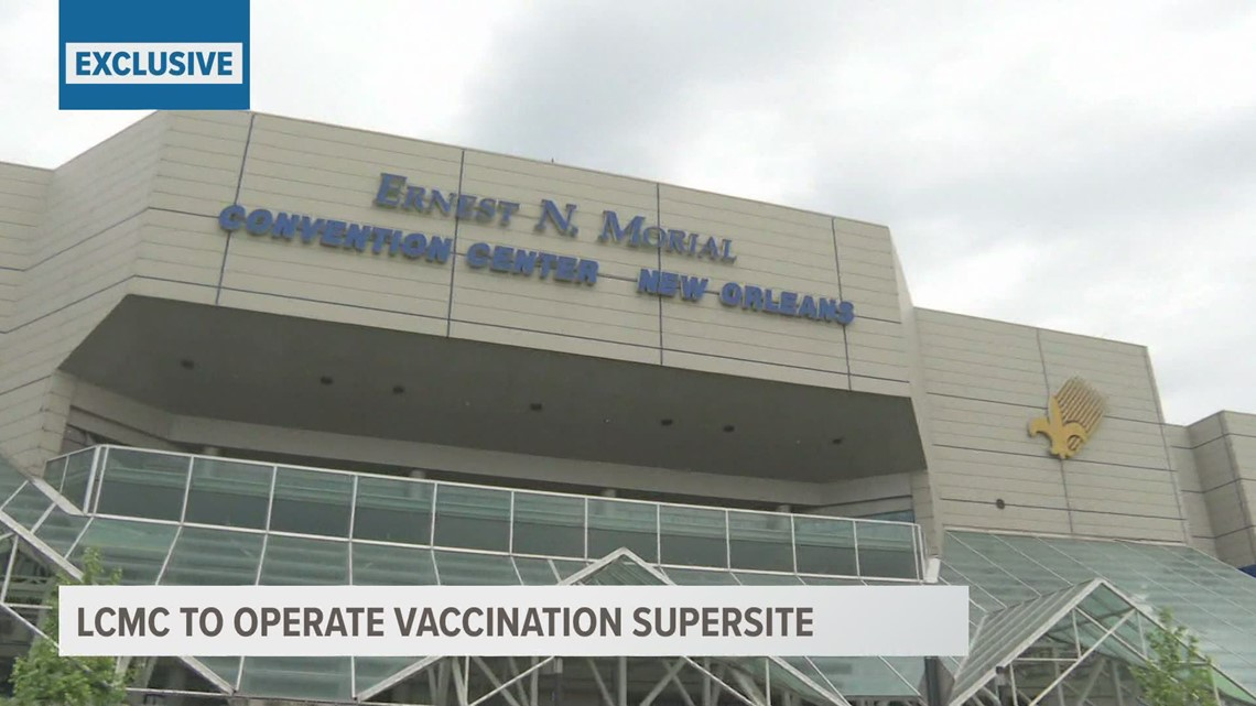 Convention Center to be major vaccination site
