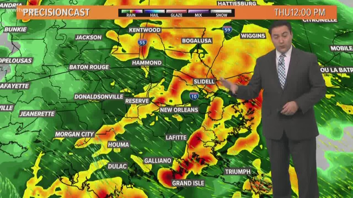 Pinpoint Forecast: Strong Storms With Heavy Rain Today