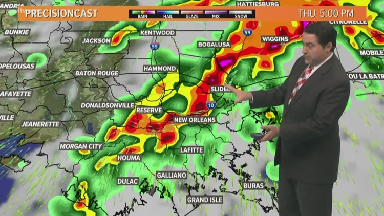 Storms roll in Thursday during the day; some could be strong to severe