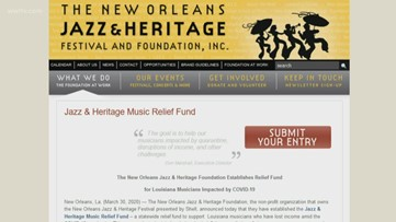 Jazz Fest creates relief fund for musicians out of work from coronavirus