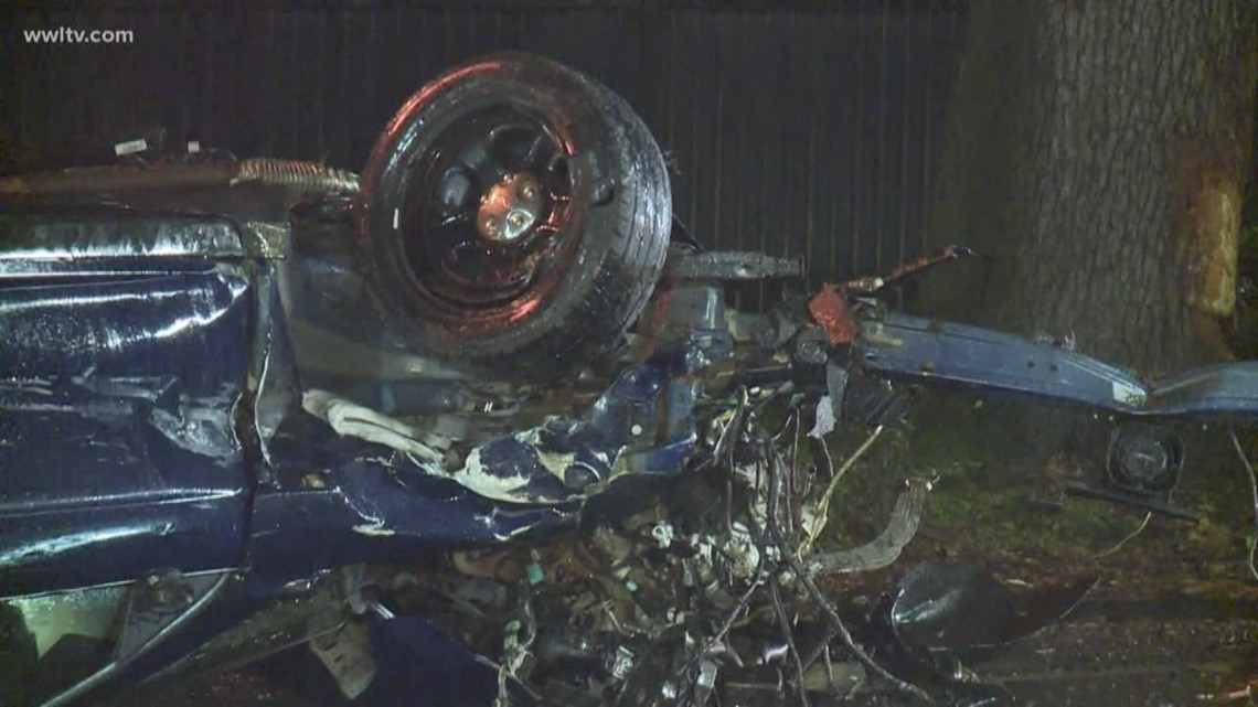 'If that person survived at all, they're gonna be hurt pretty bad,' Good Samaritan says of seeing crushed NOPD cruiser