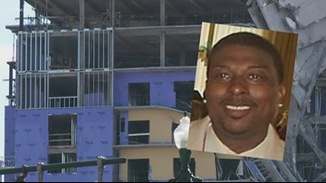 Family members grieve for  worker still under Hard Rock Hotel collapse
