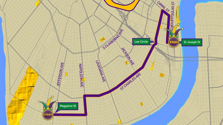 Krewe of Muses parade route