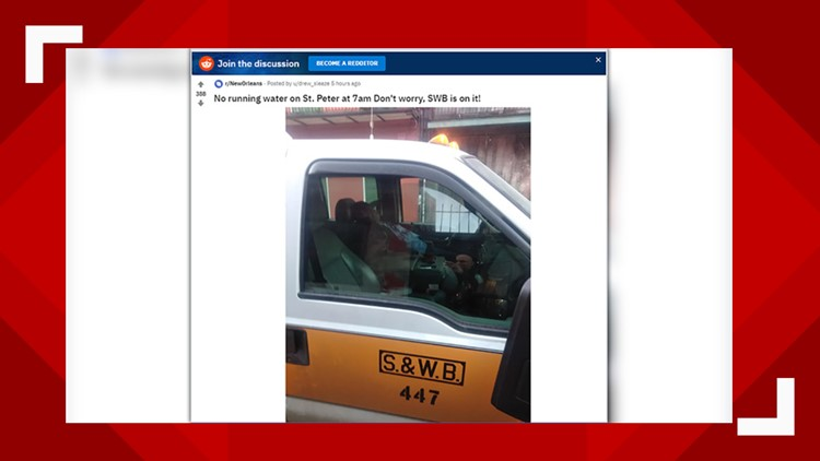 S&WB investigating photo of worker apparently sleeping in vehicle