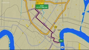 New Endymion, Zulu routes avoiding Hard Rock collapse site