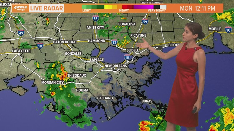 Scattered downpours stay in the forecast this week