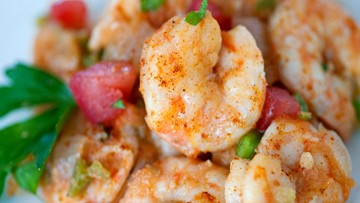 Leah Chase recipe for Breakfast Shrimp & Baked Cheese Grits