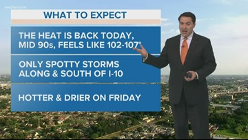 New Orleans Weather: Fewer Storms and Hotter Thursday